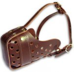 "Leather Dog Muzzle ""Dondi"" - Plus Style For Training Your Pet"