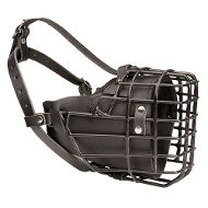 Rubber Covered Winter Wire Basket Dog Muzzle