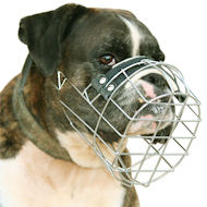 Boxer Wire Muzzle-Adjustable Boxer Muzzle-Boxers Dog Muzzle M9