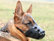 leather dog muzzle for german shepherd