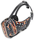 Art dog muzzle, designer leather dog muzzles