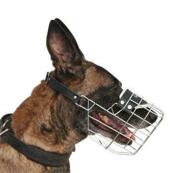 Malinois Wire Dog Muzzle- Best Wire Dog Muzzle for Malinois M9