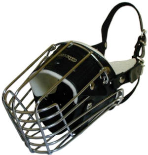 German Shepherd wire basker dog muzzle FULL PADDED
