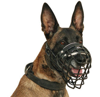 Best Wire Dog Muzzle for Belgian Malinois-Ruber Coated Muzzle