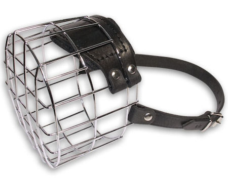 Wire basket dog muzzle for Bouver,Briard,Black russian terrier and other dogs