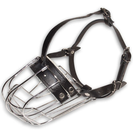 Medium dog muzzle - wire basket dog muzzle for medium breeds