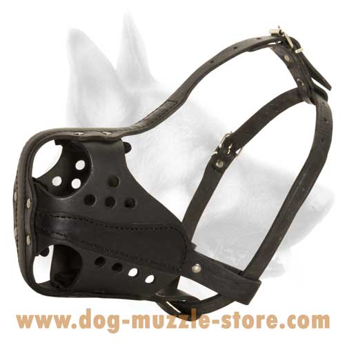 Dog Muzzle With Side Leather Reinforcement