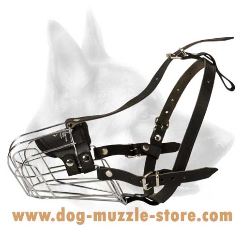 Perfectly Ventilated Wire Dog Muzzle For Safe Walking
