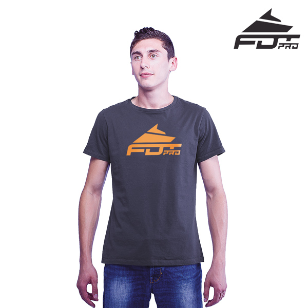 Top Quality Cotton FDT Pro Men T-shirt Dark Grey