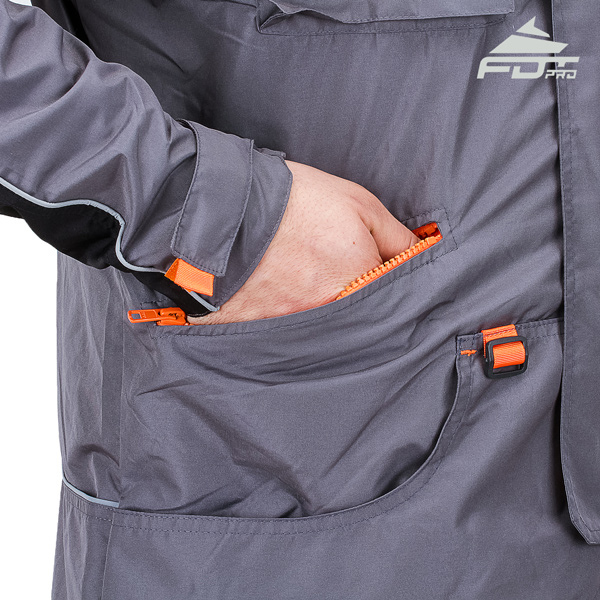 FDT Pro Dog Trainer Jacket with Back Pockets for All Weather