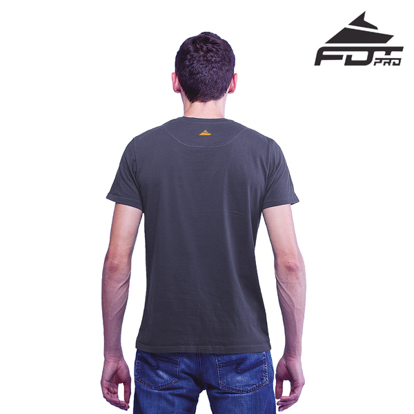 Men T-shirt Dark Grey Color Pro for Dog Trainers