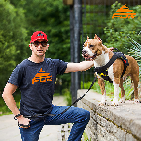 Men T-shirt of Best Quality Cotton with FDT Pro Logo for Dog Training