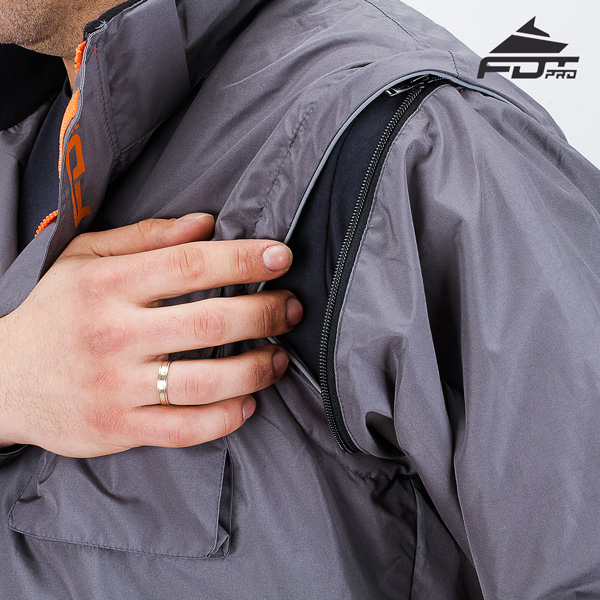 Durable Zipper on Sleeve for FDT Professional Design Dog Tracking Jacket
