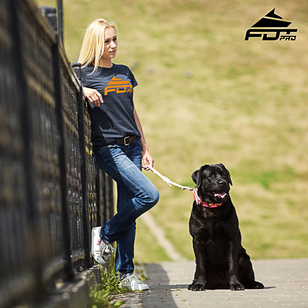 Women T-shirt of Quality Cotton for Dog Walking