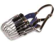 Fully Padded basket wire dog muzzle